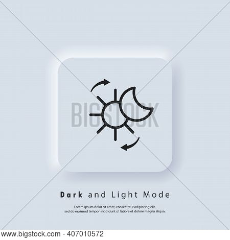 Vector Day Night Switch. Mobile App Interface. Dark And Light Mode Switcher. Dark Mode Switch Logo.
