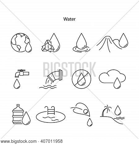 Water Drop Icon Isolated On White Background. Water Drop Icon Trendy And Modern Water Drop Symbol Fo