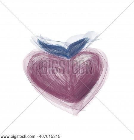 Heart, Love, Pink, Valentine, Abstract, Red, Illustration, Romance, Shape, White, Romantic, Design,