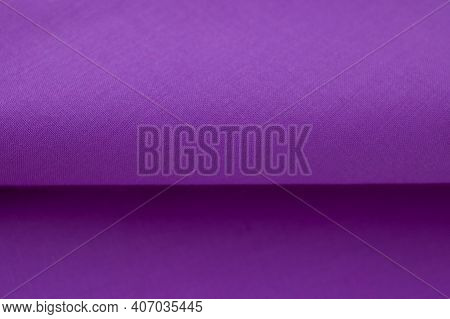Purple Fabric Texture And Background. Abstract For Designers. Purple Texture. Purple Background.