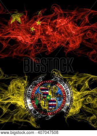 China, Chinese Vs United States Of America, America, Us, Usa, American, Honolulu, Hawaii Smoky Mysti