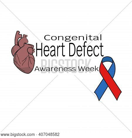 Congenital Heart Defect Awareness Week, Heart And Ribbon For Design And Creativity