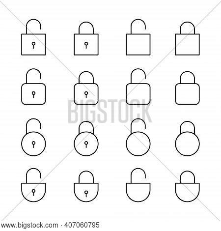 Padlock Icon Isolated On White Background From Security Collection. Padlock Icon Trendy And Modern,