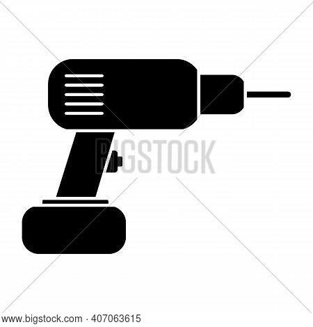Hammer Drill Icon On White Background. Vector Illustration.