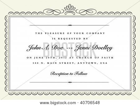 Vector Ribbon Frame. Easy to edit. Perfect for invitations or announcements.