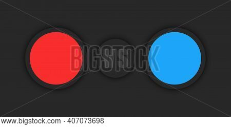Versus Infographic Vs Sport Info Board, Blue And Red Round Information Bar, Compare Products Panel N