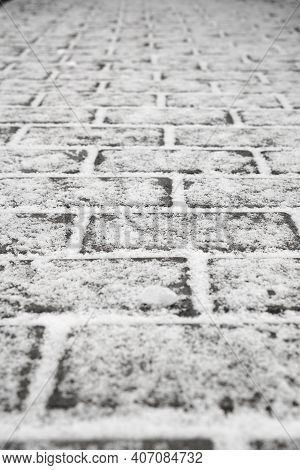 Cobblestone Path.nested Pavers. Abstract Background Of Old Cobblestone Pavement Close-up.photo