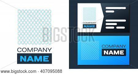 Logotype Chain Fence Icon Isolated On White Background. Metallic Wire Mesh Pattern. Logo Design Temp