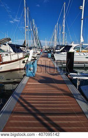 Larnaca, Cyprus - 06 Jan 2016. The Marina With Yachts In Larnaca, Cyprus