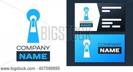 Logotype Keyhole Icon Isolated On White Background. Key Of Success Solution. Keyhole Express The Con