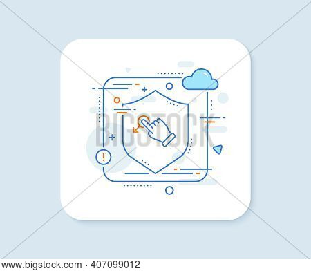 Drag Drop Gesture Line Icon. Abstract Vector Button. Slide Arrow Sign. Swipe Action Symbol. Drag Dro