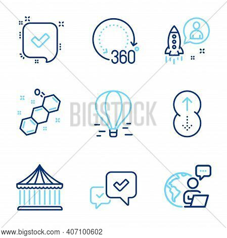 Technology Icons Set. Included Icon As Carousels, Confirmed, Startup Signs. Swipe Up, 360 Degrees, C