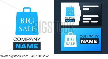 Logotype Shoping Bag With An Inscription Big Sale Icon Isolated On White Background. Handbag Sign. W