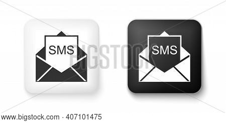 Black And White Envelope Icon Isolated On White Background. Received Message Concept. New, Email Inc
