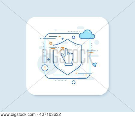 Touchscreen Gesture Line Icon. Abstract Vector Button. Slide Arrow Sign. Swipe Action Symbol. Touchs