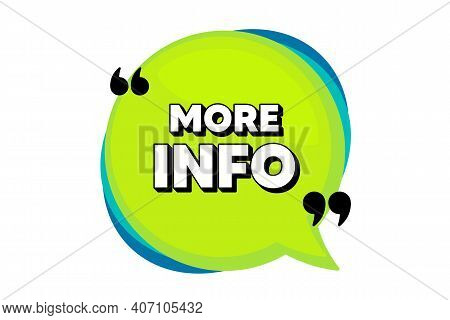 More Info Symbol. Speech Bubble Banner With Quotes. Navigation Sign. Read Description. Thought Speec
