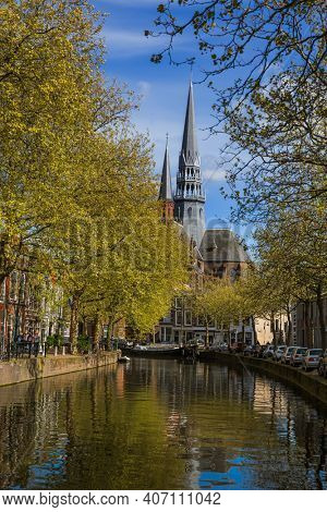 Gouda cityscape - Netherlands - architecture background