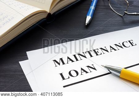 Maintenance Loan Application Form For Student And Pen.