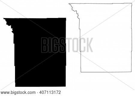 Johnson County, State Of Wyoming (u.s. County, United States Of America, Us) Map Vector Illustration