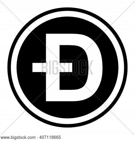 Token Symbol Of The Dogecoin Cryptocurrency, Vector Round Token Coin Dogecoin Token Promising Crypto