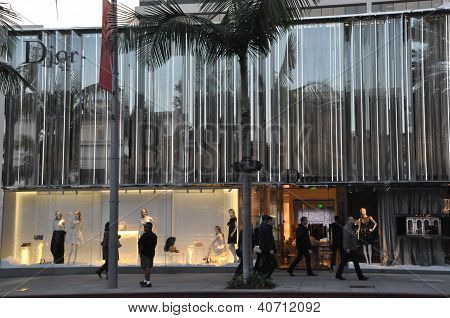Christian Dior store at Rodeo Drive in Beverly Hills, California