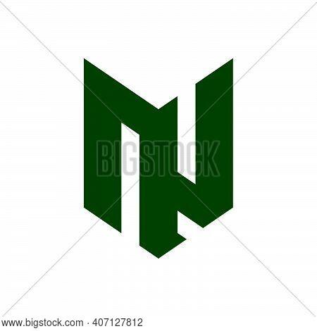 Initial Letter Nj Logo Template With Modern Geometric Fox Head Line Art Illustration In Flat Design