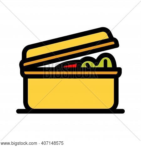 Lunchbox Color Simple Icon. Illustration Of Lunchbox Icon Vector For Web Design Isolated On White