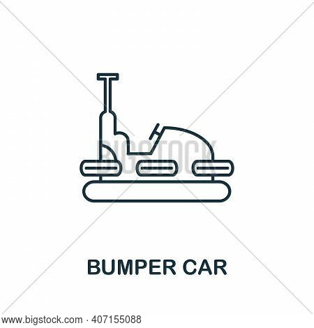 Bumper Car Icon. Simple Element From Amusement Park Collection. Creative Bumper Car Icon For Web Des