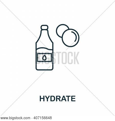 Hydrate Icon. Simple Illustration From Biohacking Collection. Creative Hydrate Icon For Web Design,