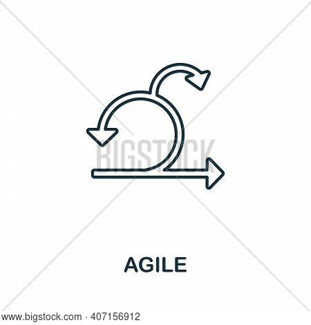 Agile Icon. Simple Element From Business Intelligence Collection. Creative Agile Icon For Web Design