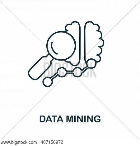 Data Mining Icon. Simple Element From Business Intelligence Collection. Creative Data Mining Icon Fo