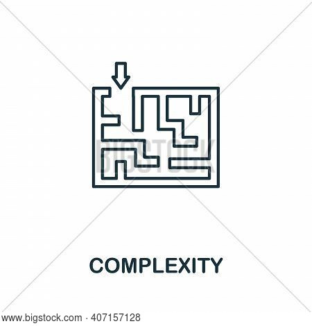 Complexity Icon. Simple Element From Business Intelligence Collection. Creative Complexity Icon For