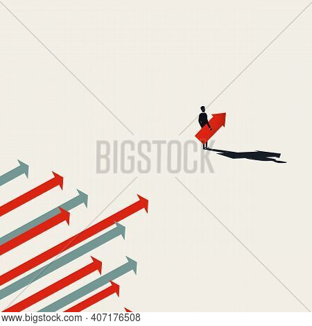Business Leader Vector Illustration. Symbol Of Leadership, Ambition, Courage, Vision.