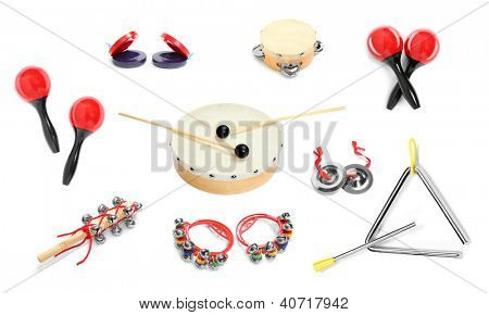 Great collection of a percussion instruments for a carnival musicians.