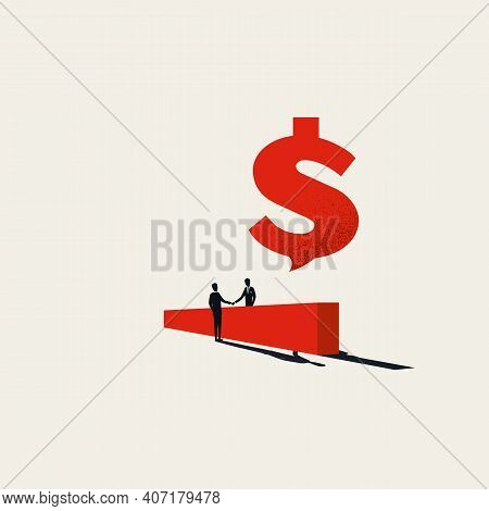 Business Offer And Negotiation, Vector, Concept. Symbol Of Profit, Money, Success.