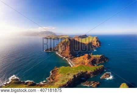 Aerial View Of The Ponta De Sao Lourenco Peninsula, Madeira Islands, Portugal