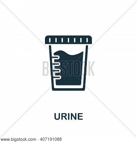 Urine Icon. Simple Element From Medical Services Collection. Filled Monochrome Urine Icon For Templa