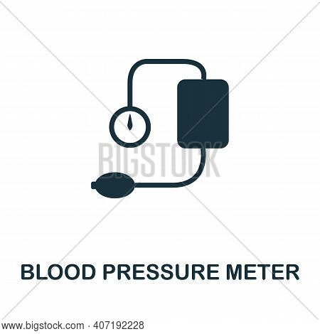 Blood Pressure Meter Icon. Simple Element From Medical Services Collection. Filled Monochrome Blood