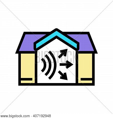 House Acoustic Color Icon Vector. House Acoustic Sign. Isolated Symbol Illustration