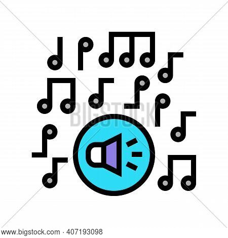 Classical Music Melody Color Icon Vector. Classical Music Melody Sign. Isolated Symbol Illustration