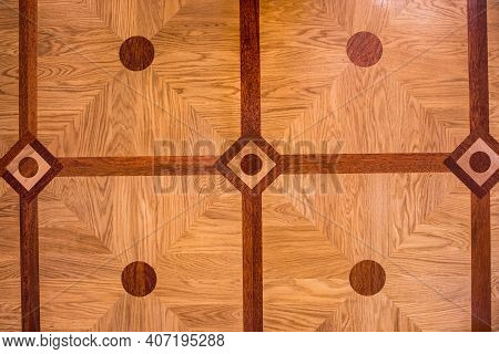 The Texture Of The Parquet Is Light Brown. Nice Beige Parquet Texture
