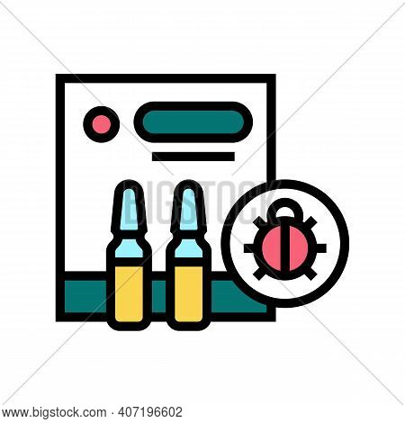 Protection Liquid From Ticks Color Icon Vector. Protection Liquid From Ticks Sign. Isolated Symbol I