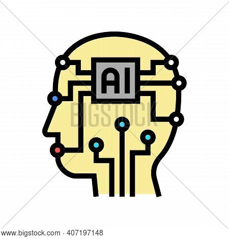 Artificial Intelligence Technology Color Icon Vector. Artificial Intelligence Technology Sign. Isola