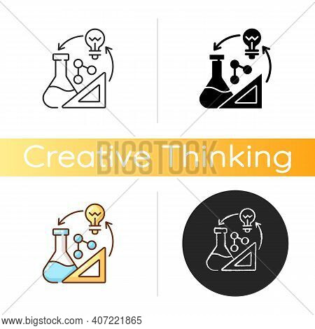 Creativity In Stem Icon. Creative Thinking Idea. Professional Information Analysis. Examples Of Crea