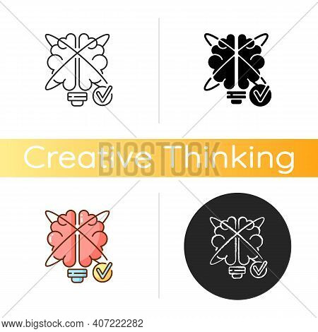 Creative Problem Solving Icon. Improving Creative Thinking. Contemporary Skill. Innovation Reasoning
