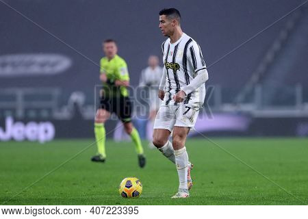 Torino, 06th February 2021. Cristiano Ronaldo Of Juventus Fc  During The Serie A Match Between Juven
