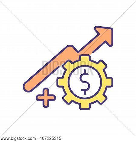 Revenue Potential For Autonomous Manufacturing Rgb Color Icon. High Sales. Increasing Flexibility, P