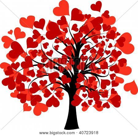 Valentines tree background