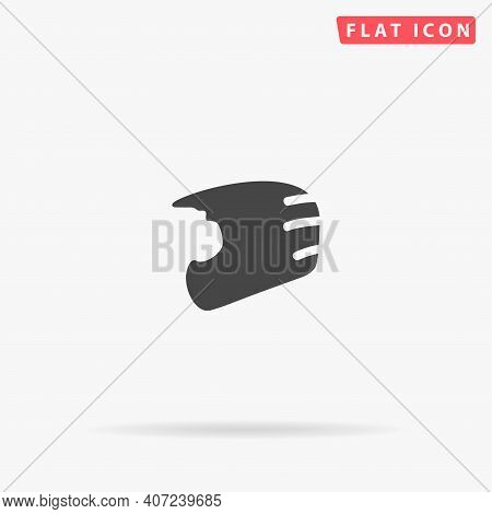 Motorcycle Helmet Flat Vector Icon. Hand Drawn Style Design Illustrations.