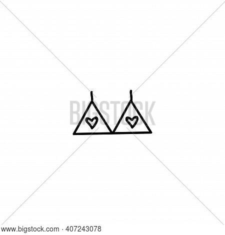 Logo For Online Shop, Lingerie . Contemporary Modern Trendy Vector Logo. Highlight Cover Background.